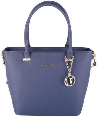 Trussardi Levanto Saffiano Faux Leather Tote Bag