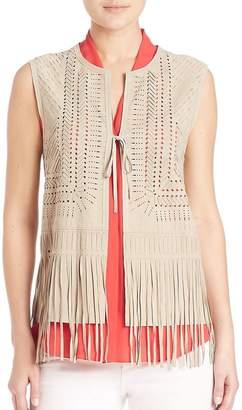 Elie Tahari Women's Aida Suede Vest