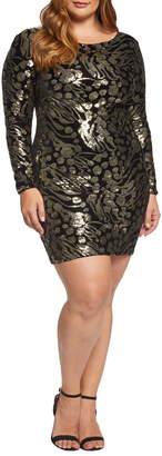 Dress the Population Lola Sequin & Velvet Minidress