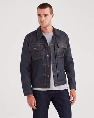 7 For All Mankind Trucket Jacket in Deep Wax