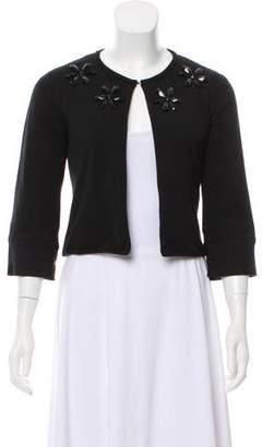 Tibi Embellished Cropped Cardigan