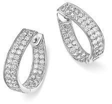 Bloomingdale's Diamond Inside Out Hoop Earrings in 14K White Gold, 1.50 ct. t.w. - 100% Exclusive
