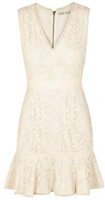 Alice + Olivia Onella Flared-hem Lace Mini Dress