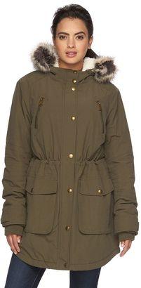 Women's Apt. 9® Hooded Faux-Fur Anorak Parka $180 thestylecure.com