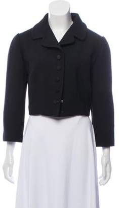 Dolce & Gabbana Notch-Collar Crop Jacket Black Notch-Collar Crop Jacket