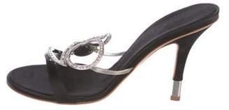 Giuseppe Zanotti Rhinestone Embellished Sandals Black Rhinestone Embellished Sandals