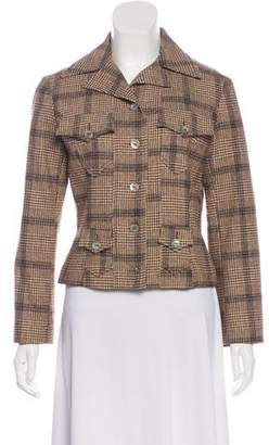 Christian Lacroix Plaid Wool Jacket
