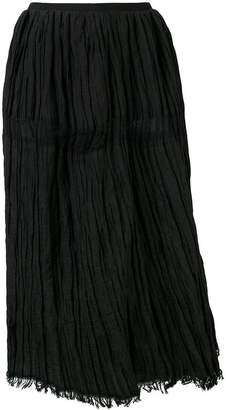 Uma Wang high waisted ruched skirt