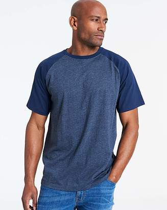 Jacamo Denim/Navy Raglan T-Shirt