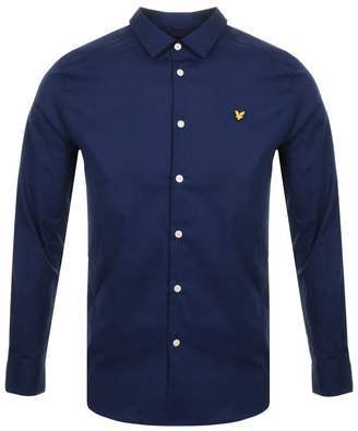 Long Sleeve Poplin Shirt Navy