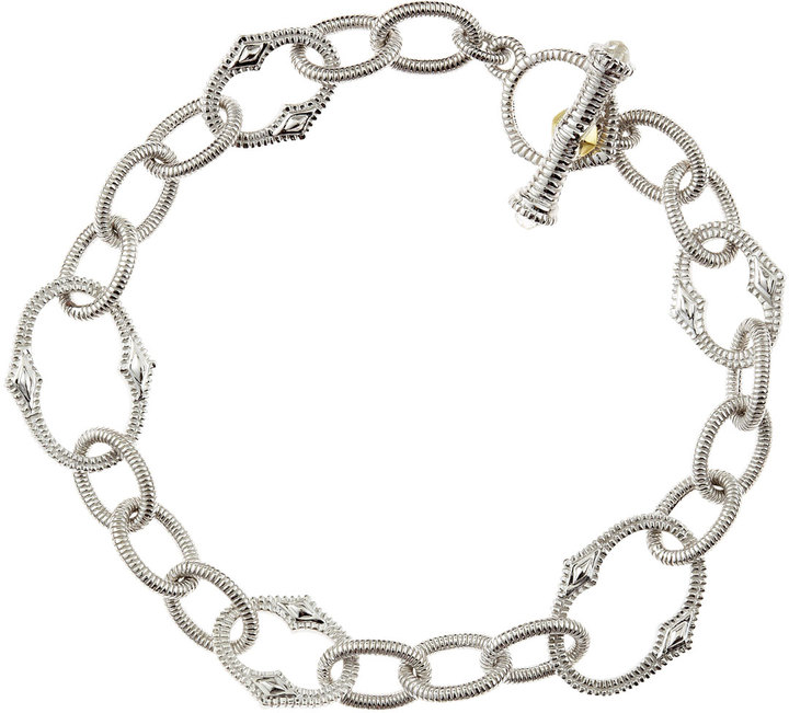 Judith Ripka Contempo Silver Chain Bracelet