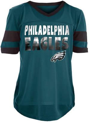 5th & Ocean Philadelphia Eagles Foil Football Jersey, Girls (4-16)