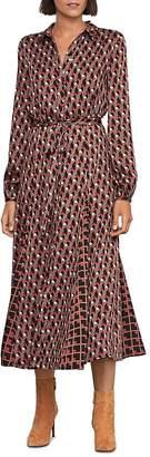 BCBGMAXAZRIA Geometric Print Shirt Dress