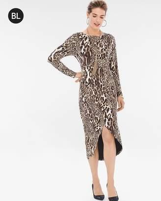 Black Label Leopard-Print Wrap Dress