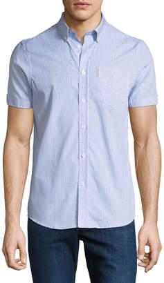 Ben Sherman Men's Bengal-Striped Short-Sleeve Sport Shirt