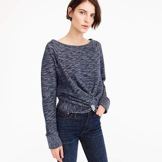 J.Crew Twist-front sweatshirt
