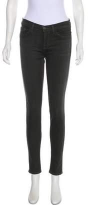 J Brand Skinny-Leg Mid-Rise Jeans
