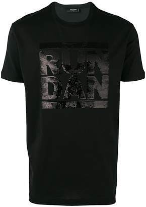 DSQUARED2 RUN DAN sequin-embellished T-shirt