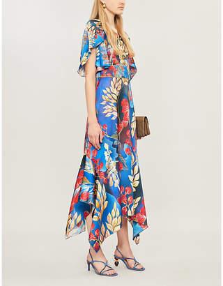 Peter Pilotto Asymmetric stretch-silk dress