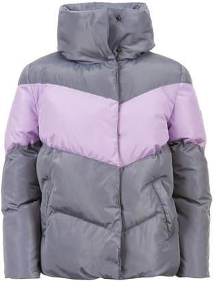 Calvin Klein Big Girls Colorblock Puffer Jacket