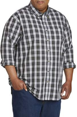Canyon Ridge Men's Big and Tall Easy Care Long Sleeve Plaid Shirt, up to 7XL