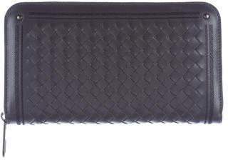 Bottega VenetaBottega Veneta Intrecciato Leather Zip-Around Wallet