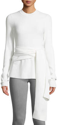 Diane von Furstenberg Devin Wrap-Front Merino Wool Sweater
