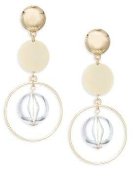 Ettika Beaded Disc Drop Earrings