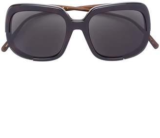 Marni Eyewear Havana oversized sunglasses