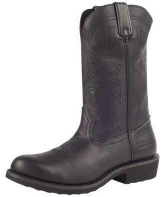 "Durango work boots mens 12"" farm ranch leather wellington black fr100"