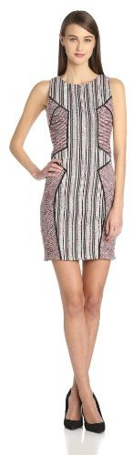 Rebecca Minkoff Women's Moulin Sleeveless Seamed Cocktail Tweed Dress
