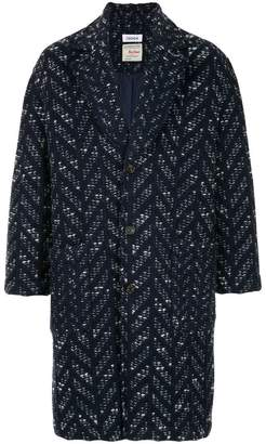 Coohem Herringbone tweed fitted coat