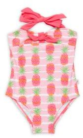 Little Girl's & Girl'sPineapple Printed One-Piece Swimsuit $54 thestylecure.com