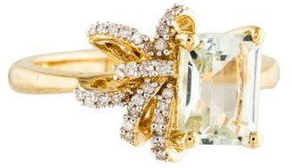 Laura Ashley Prasiolite & Diamond Cocktail Ring $160 thestylecure.com