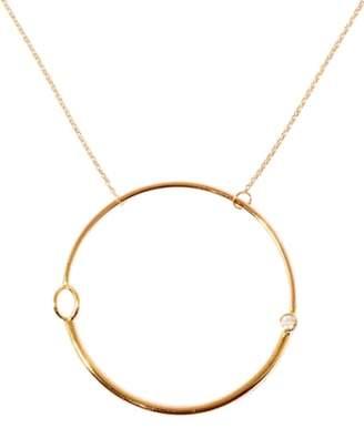 Sebastian SARAH & 'Large Foam' Gold & Diamond Pendant Necklace