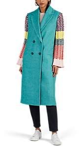 Mira Mikati Women's Appliquéd Wool-Blend Coat - Green