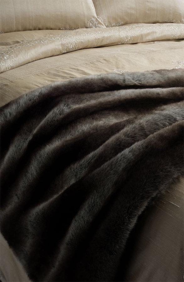 Nordstrom Faux Chinchilla Fur Throw