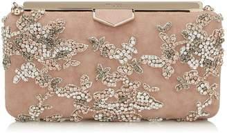 Jimmy Choo Medium Suede Embellished Ellipse Clutch Bag