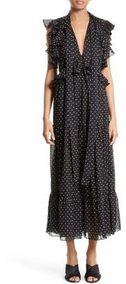 Women's Robert Rodriguez Polka Dot Maxi Dress $395 thestylecure.com