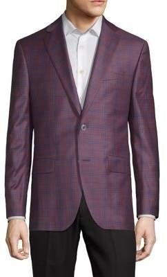 Jack Victor Conway Plaid Wool Jacket