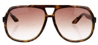 Gucci Gradient Web Aviator Sunglasses
