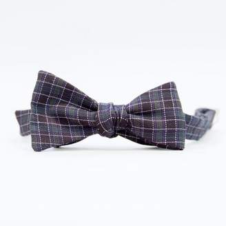 Blade + Blue DOORBUSTER DAY Dark Green & Black Check Bow Tie