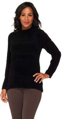 Denim & Co. Chenille Mock Neck Sweater