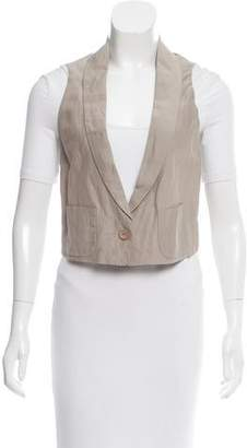 Nina Ricci Cropped Pocket-Accented Vest w/ Tags
