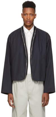 Jil Sander Navy Double Zip Renon Jacket