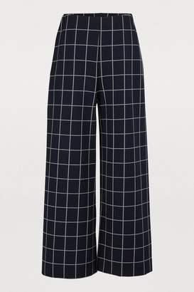 Harris Wharf London Wide plaid pants
