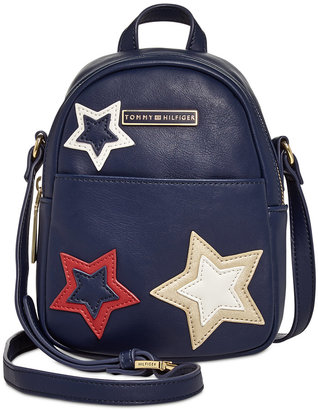 Tommy Hilfiger Aurora Embellished Mini Backpack Crossbody $88 thestylecure.com