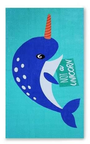 Narwhal Beach Towel Crystalized Green