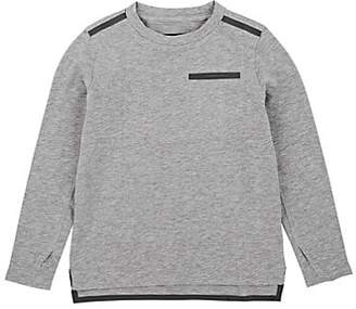 Barneys New York Kids' Taped Cotton-Blend T-Shirt - Gray