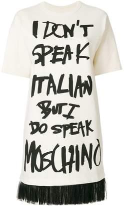 Moschino slogan T-shirt dress